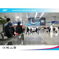 Quality Aluminum Alloy / Steel Giant P4 SMD2121 indoor Advertising LED Screen For Airport for sale