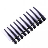 Quality Good Quality Barber Shop Hair Clips For Hairdresser Plastic Salon Hair Section Clips Pin 10pcs/card for sale