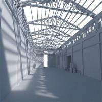 China Prefab Portable Steel Frame Workshop Buildings With Light Steel Structure for sale