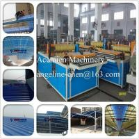 Quality PVC colorsteel corrugated composite roof tile/roofing sheet making machine production line for sale