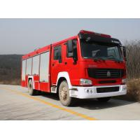 HOWO single row water fire truck