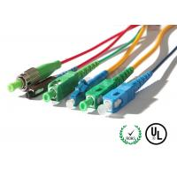Quality SM OS2 & MM OM3 OFNR & OFNP Corning Cable Fiber Optic Patch Cord in SC / LC / FC / ST connectors for sale