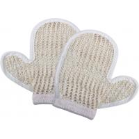 Quality Natural Customized Dead Skin Exfoliating Shower Mitt Sisal Body Scrubber Glove for sale