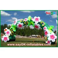 Quality Mini Inflatable Arch / Inflatable Gate / Infaltable Door With Flower Decoration for sale