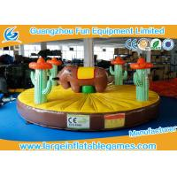 Quality 0.55mm PVC Tarpaulin Inflatable Sport Games , 5*5m Inflatable Rodeo Bull for sale