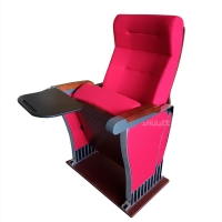 Quality Foldable Audience Seating PU Molded Foam Anti Stained Auditorium Chairs With Writing Board for sale