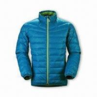 Quality Women's Down Jacket with YKK 5# Plastic Zipper and 2 Hang Pocket for sale