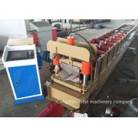 Quality Metal Roof Ridge Cap Roll Forming Machine 8-12m/Min Speed PLC Control System for sale