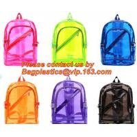 Quality Backpack Bag Casual Backpack For Women, outdoor clear pvc plastic backpack, school travel backpack with padded shoulder for sale