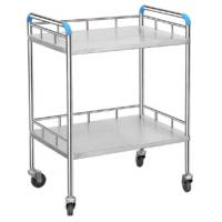 Quality Multi Function Stainless Steel Dressing Trolley Hospital Carts Smooth Surface for sale