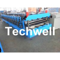 Quality Automatical Double Layer Roof Wall Panel Roll Forming Machine With 0.3 - 0.8mm Thickness for sale