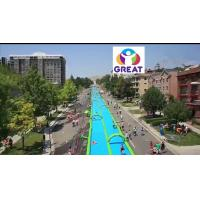 Buy High quality 1000ft slip n slide inflatable slide the city   GT-SAR-1680 at wholesale prices