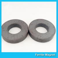 China Industrial Large Ring Shape Ferrite Speaker Magnet 53mm X 24mm X 11mm for sale