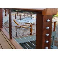 China Safety Protection Balcony Stainless Steel Cable Deck Railing Systems For House on sale