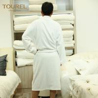 Quality Hotel Mattress Protectors White Luxury Towelling Bathrobe Terry Cloth Spa Robe for sale