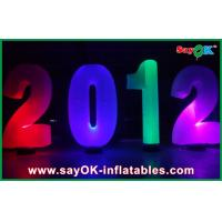 Quality Beautiful Inflatable Lighting Decoration Number For Advertising for sale
