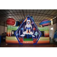 Quality Spaceship Inflatable Fun City With Fence Wall Around / Party City Bounce House for sale