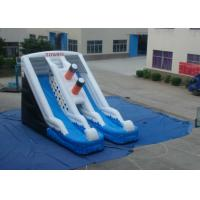 Quality Digital Printing Commercial Inflatable Water Slides  0.55mm Pvc Tarpaulin 9 X 5.7 X 5.7m for sale