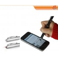 Quality 3 IN 1 multifunction mini Capacitive Screen touch Stylus Pen with LED light laser pointer for sale
