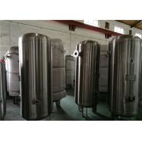Buy 80 Gallon Stainless Steel Compressor Air / Gas Storage Tanks 1.0MPa Pressure at wholesale prices