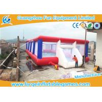 Quality 0.55mm Tarpaulin Inflatable Football Pitch Bubble Pitch With Netting for sale