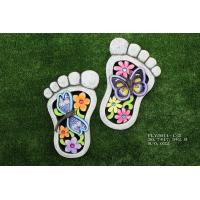 Quality Foot Shaped Ceramic Garden Decorations , Outdoor Lovely Cement Stepping Stone for sale