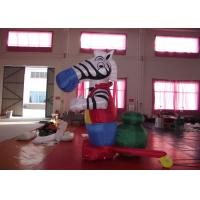 Quality Blow Up Advertising Signs Strong PVC Nylon , Beautiful Giant Inflatable Zebra 3mh for sale