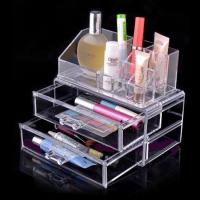 Quality Non-toxicity Acrylic Cosmetic Display / Portable acrylic makeup box for sale