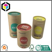 Quality Color Printing Kraft Paper Tubes; Luxury Custom Cosmetics Brown Kraft Tube for sale
