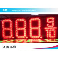Quality Outdoor Waterproof LED Gas Price Display High Brightness For Gas / Petrol Station for sale