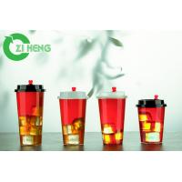 Quality 20 Oz 600ml Clear Disposable Plastic Cups With Lids For Ice Cream Eco Friendly for sale