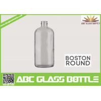 Buy 8oz Boston Round Glass Bottle With Screw Cap Clear Color at wholesale prices