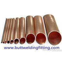 Quality Seamless Copper Brushed Nickel Tubing 0.8 - 1.5mm Wall Thickness CuNi 90/10 for sale