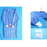 Quality Waterproof Blue Medical Disposable Isolation Gown Breathable 48gsm for sale