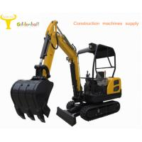 Good performance small size hydraulic excavator with rubber reack for sale