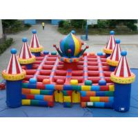 Quality Colourful circus big  inflatable maze sport game outdoor inflatable sport games for sale for sale