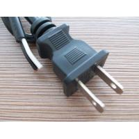 USA Mains cord with UL certified 2 Core round Flexible Cable with nema 1-15p Plug for sale