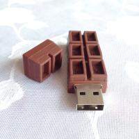 China Portable Customized USB Flash Drive / High Speed usb 2.0 chocolate usb thumb drive on sale