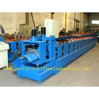 Quality ISO / CE Approved Metal Ridge Cap Tile Roll Forming Machine Production Line High Speed for sale