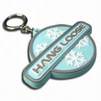 Quality Rubber Keychain, Custom Design with Logos, Perfect for Promotion Gifts for sale
