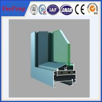 China aluminum window frames price/aluminium window making materials, price of aluminium windows on sale