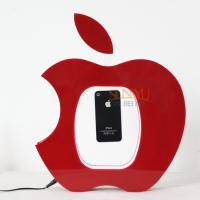 Quality Table Advertising Stands Acrylic Mobile Phone Holder Magnetic Levitation Floating Display Apple Shaped for sale