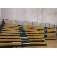 China Event Center Wood Bleacher Seating With Kiln Dried Lumber Seat Base on sale