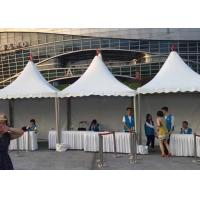 Colorful White PVC Pagoda Party Tent Size Customized For Marketing Point Shop Space