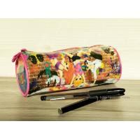 Quality Full Printing Girl Stationery Pencil Pouch , Non-toxic Vinyl Stationery Organizer Bag for sale