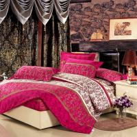 Quality Colorful Full Size 5 Piece Polyester Bed Set Embroidered Printed Plain Dyed for sale