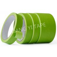 China Green Heat Resistant Insulation Tape , Crepe Paper Automotive Adhesive Tape for sale