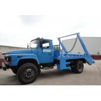 Quality Dongfeng 140 long head 6cbm swing arm garbage carrier for sale