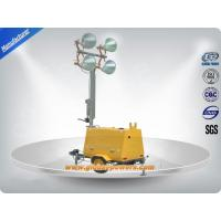Buy cheap LED 9m Portable Trailer  Mobile Light Tower Diesel Generator  with Hand Push from wholesalers