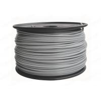 Quality PLA 3mm / 1.75mm Grey Color 3D Printer Filament Materials , 2.2lb / Spool for sale